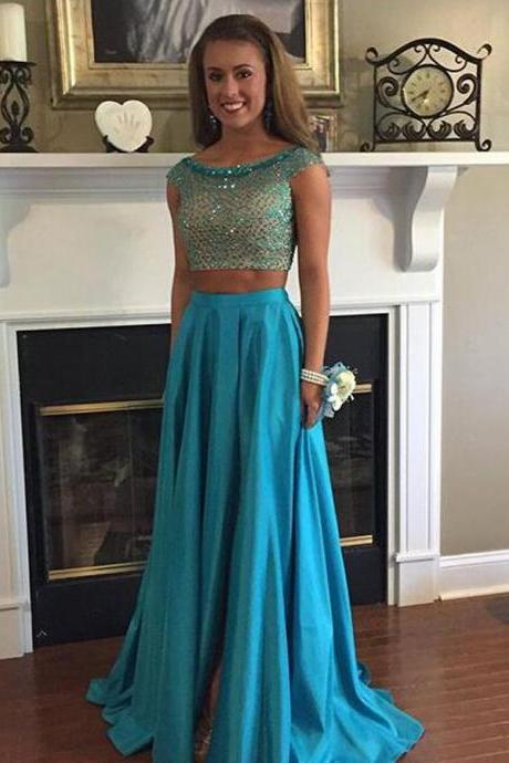 Two Piece Prom Dresses, Wedding Party Dresses, Graduation Party Dresses, Formal Dresses