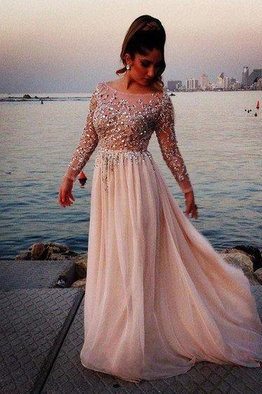 Beaded Prom Dresses, Formal Dresses, Graduation Party Dresses, Banquet Gowns
