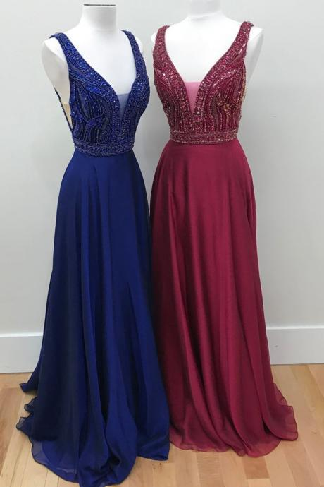 Backless Prom Dress, Sweet 16 Dress, Evening Dresses, Pageant Dresses, Graduation Party Dresses, Banquet Gown
