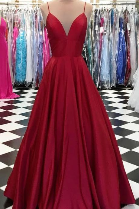 Sexy V Neckline Prom Dress, Sweet 16 Dress, Evening Dresses, Pageant Dresses, Graduation Party Dresses, Banquet Gown