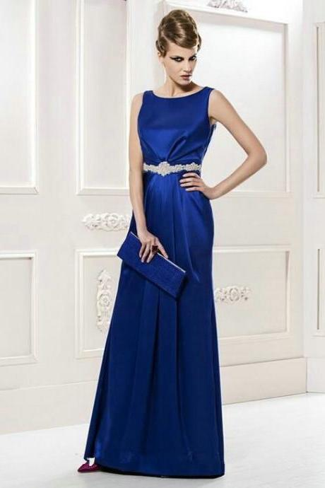 Royal Blue Prom Dresses Floor Length pst0280