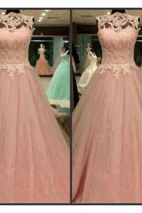 Lace Prom Dresses Floor Length pst0296