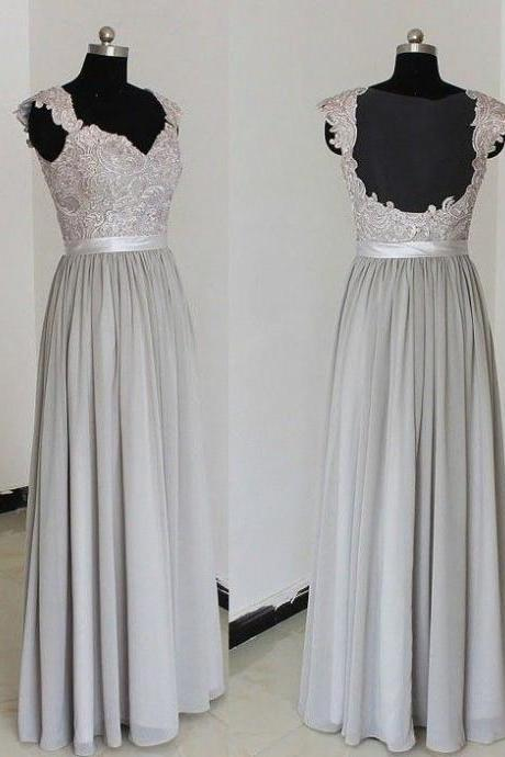 Lace Floor Length Bridesmaid Dresses pst0227