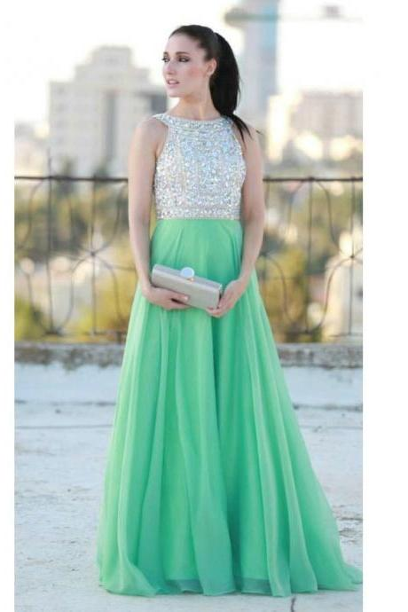 Chiffon and Beads Celebrity Prom Dresses pst0190