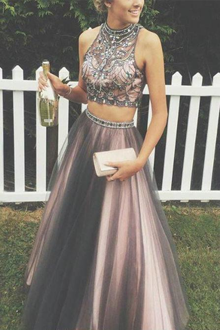 two pieces prom dresses,graduation party dresses,evening dresses,formal gowns