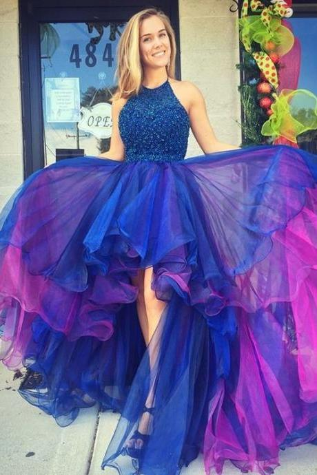 High Low Prom Dress, Prom Dresses For Teens,Graduation Party Dresses, Sweet 16 Dresses