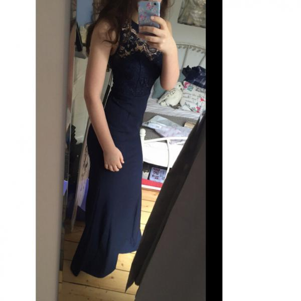 Navy Prom Dress Cocktail Party Dresses pst0658